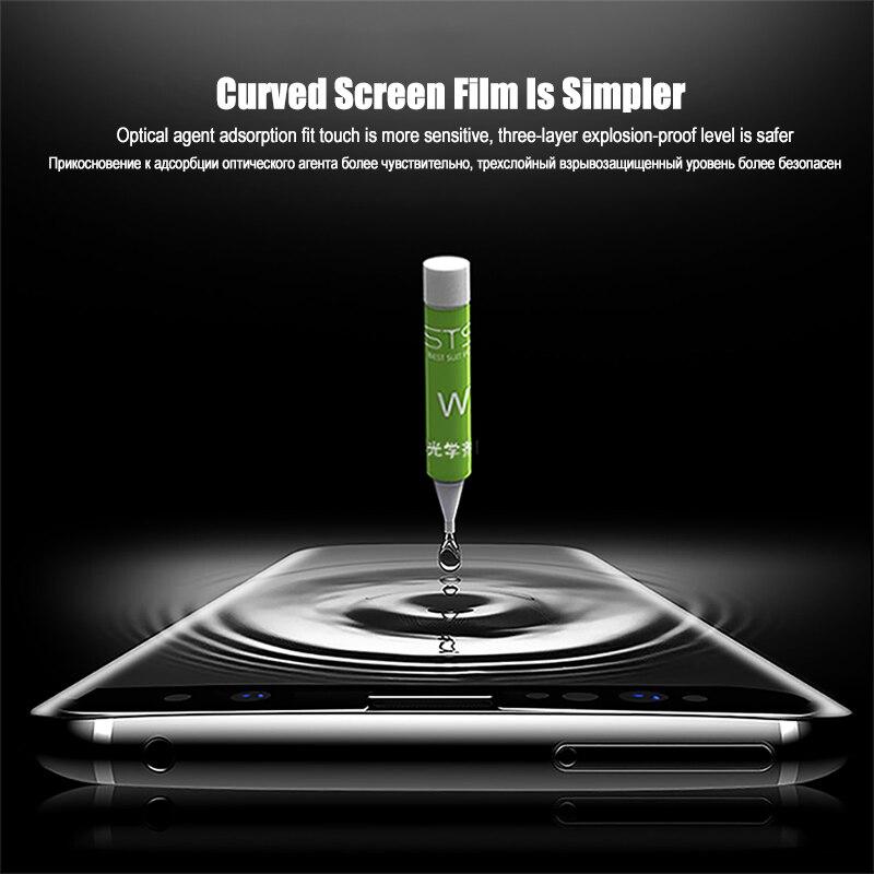 Image 4 - Ультрафиолетовый жидкий изогнутый полный клей покрытие закаленное стекло для Samsung Galaxy S8 S9 S10 Plus Note 8 9 10 Plus S10e Защитная пленка для экрана-in Защитные стёкла и плёнки from Мобильные телефоны и телекоммуникации