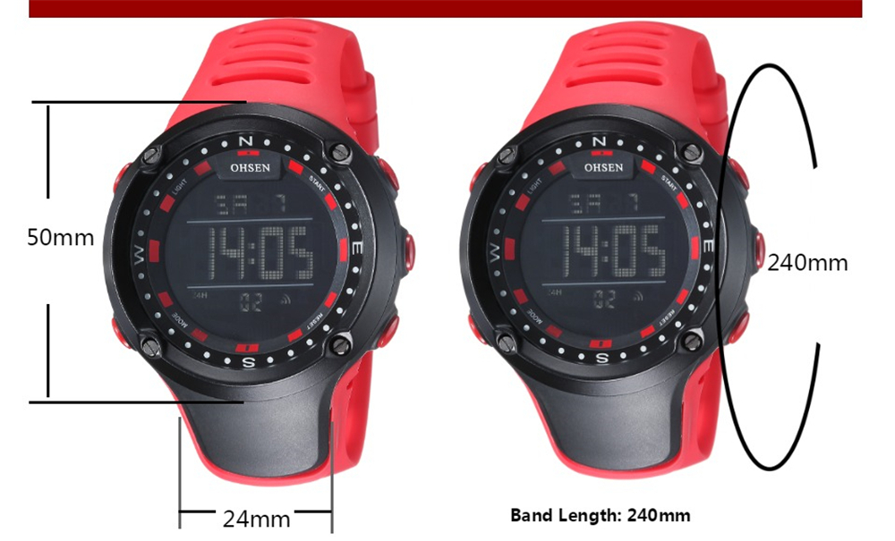 OHSEN Brand Men Women Sports Watches Waterproof Alarm Digital LED Electronic Clock Man Sport Male Casual Watch Relogio Masculino (29)
