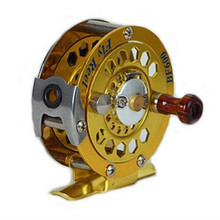1pc Top Quality Fishing Reel Glod color Fly Reel 3 4 5 6 7 8 146g