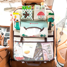 Cartoon Car Seat Back Opbevaring Bag Organizer for Kids med Isoleret Pocket Universal Stowing Tidying Protector Auto Tilbehør