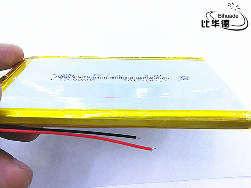 1pcs/lot Liter energy battery rechargeable lipo battery cell 3.7 V 8873130 10000 mah tablet lithium polymer battery