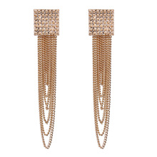 Premium gold fringed pendant earrings for ladies fashion popular 2019 jewelry T08