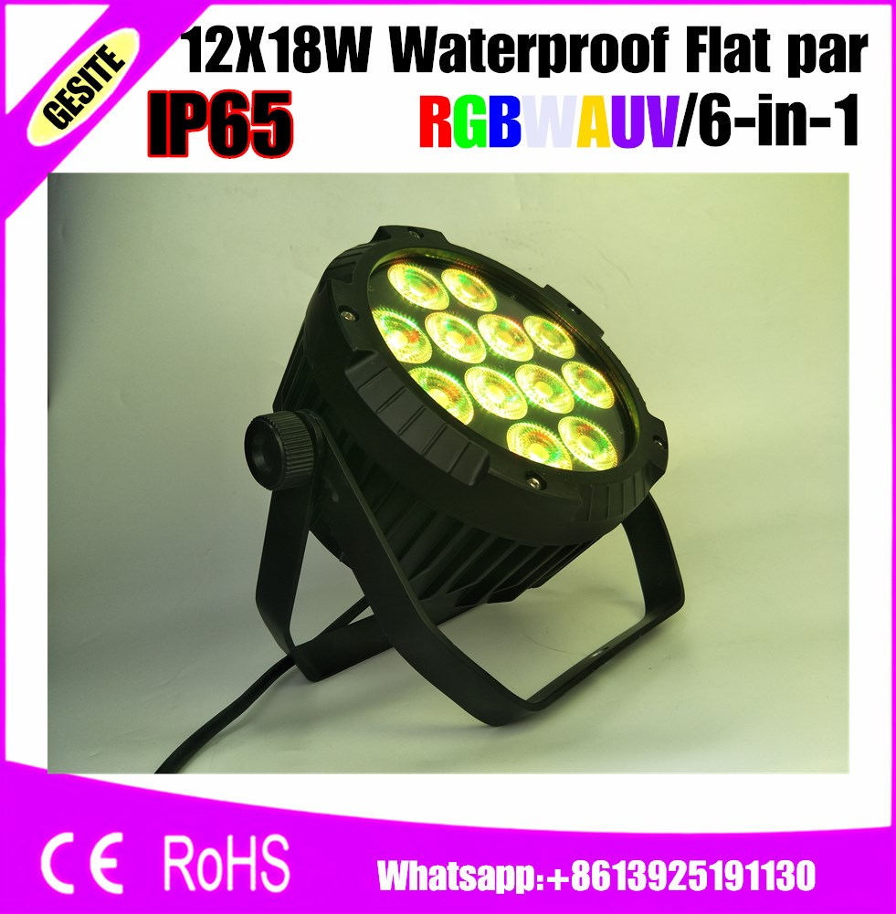 4pcs/lot Outdoor wall light fixtures Waterproof uv 12x18w led par spotlight dmx ip65