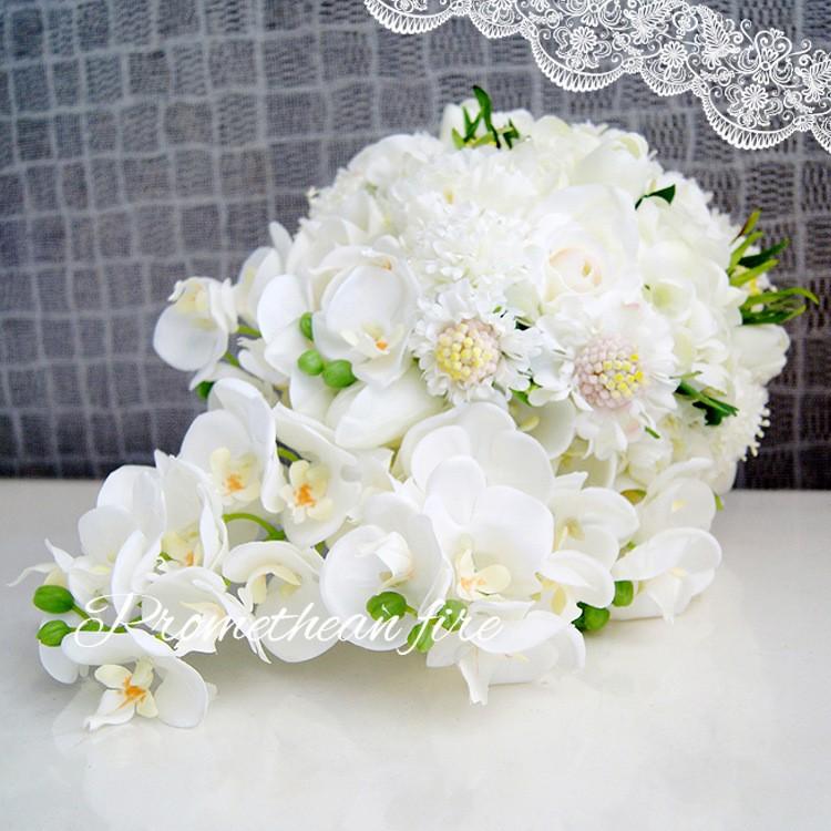 Bridesmaid flower wedding accessories bridal bouquets artificial bruidsboeket fleurs bouquet mariage 8