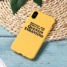 Quentin Tarantino Movie Star Grappige Brief Instagram Soft Phone Case Fundas Voor iPhone 11 Pro 7Plus 7 6Plus 6 6S 8 8Plus X XS Max(China)