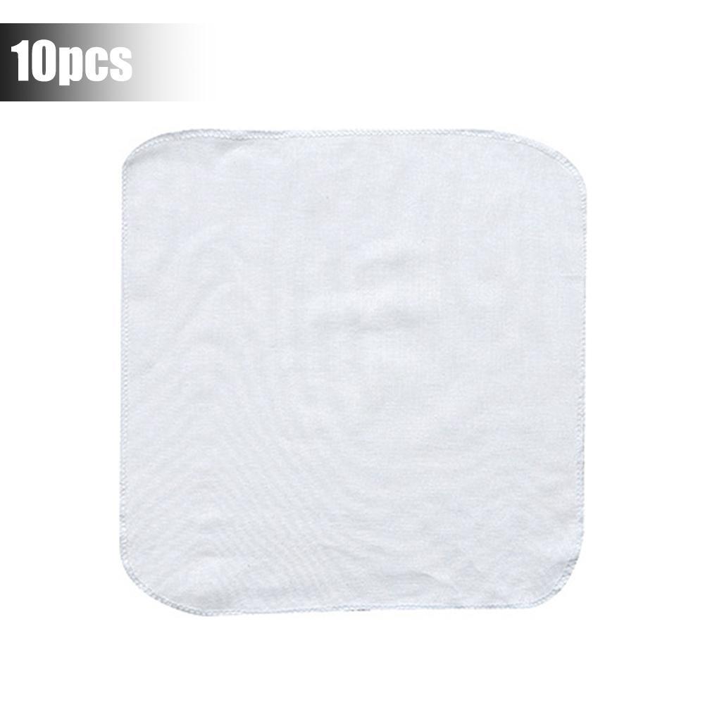 10pcs Household Cotton Steamer Cloth Reusable Non-stick Cloth Round Steamed Bun