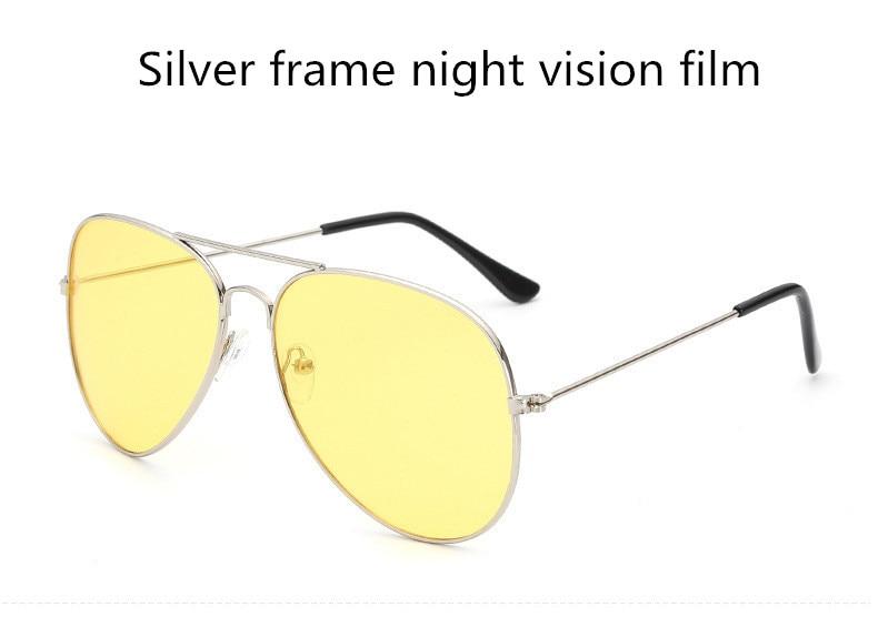 ASUOP2018 new ladies retro cat eye sunglasses luxury brand fashion men's pilot glasses UV400 night vision goggles night vision goggles (7)