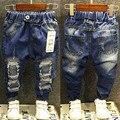 Горячая Продажа! 2016 Новая Коллекция Весна Мода мальчик джинсы штаны разорвал джинсы для Детей дети Мальчики Повседневные брюки TN46