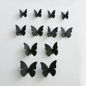 2 комплекта (24 шт.) Яркая черная ПВХ бабочка с черной безопасная булавка Ассорти домашняя Свадьба Babyshower занавеска тканевая шляпа украшение