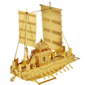 WMX 3D Metal Puzzles DIY Model Gift World's Ship Boats Black Pearl Pacific wheel Jigsaws Toys For Kids Adult Gold & Silver