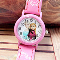 Cute Snow Queen Princess Cartoon 3D Children Kids Girls 3D Eye minnie Batman Quartz Analog Watch Toys Gifts Promotion Clock Hour