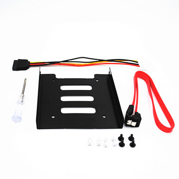 SSD HDD Mounting Bracket 2.5 to 3.5 Internal Hard Disk Drive Kit Cables 2.5 hard disk drive to 3.5 bay tray caddy one set 2 5 to 3 5 inch plastic ssd bay laptop notebook external hard disk drive ssd hdd mounting rail adapter bracket holder dock bay