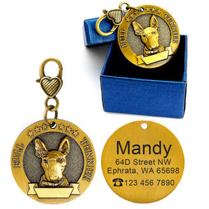Image 4 - Dog ID Tag Engraved Personalized Metal Pet Dog Tags Custom Puppy Cat ID Name Tags Collar Accessories For Dogs Necklaces Pendants