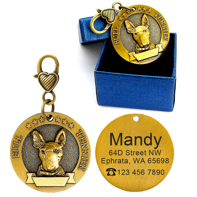 Personalized Dog ID Tag Engraved Name Collar Pet Dogs Cats Necklaces Pendants