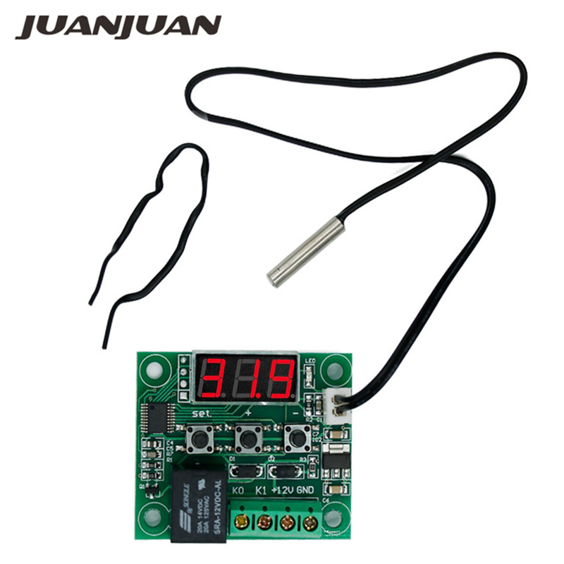 W1209 DC 12V Digital  Heat Cool Temp Thermostat Temperature Control Switch Module On/Off Controller Board With Sensor 47%off