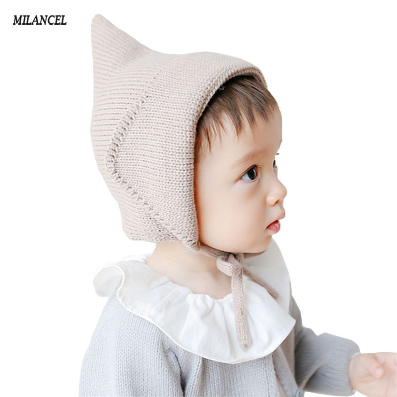 Best Matching Baby Hats Beige khaki Pure Newborn Knit Baby Girl Hats 0-2 Years Baby Bonnet Hot casquette infant hats