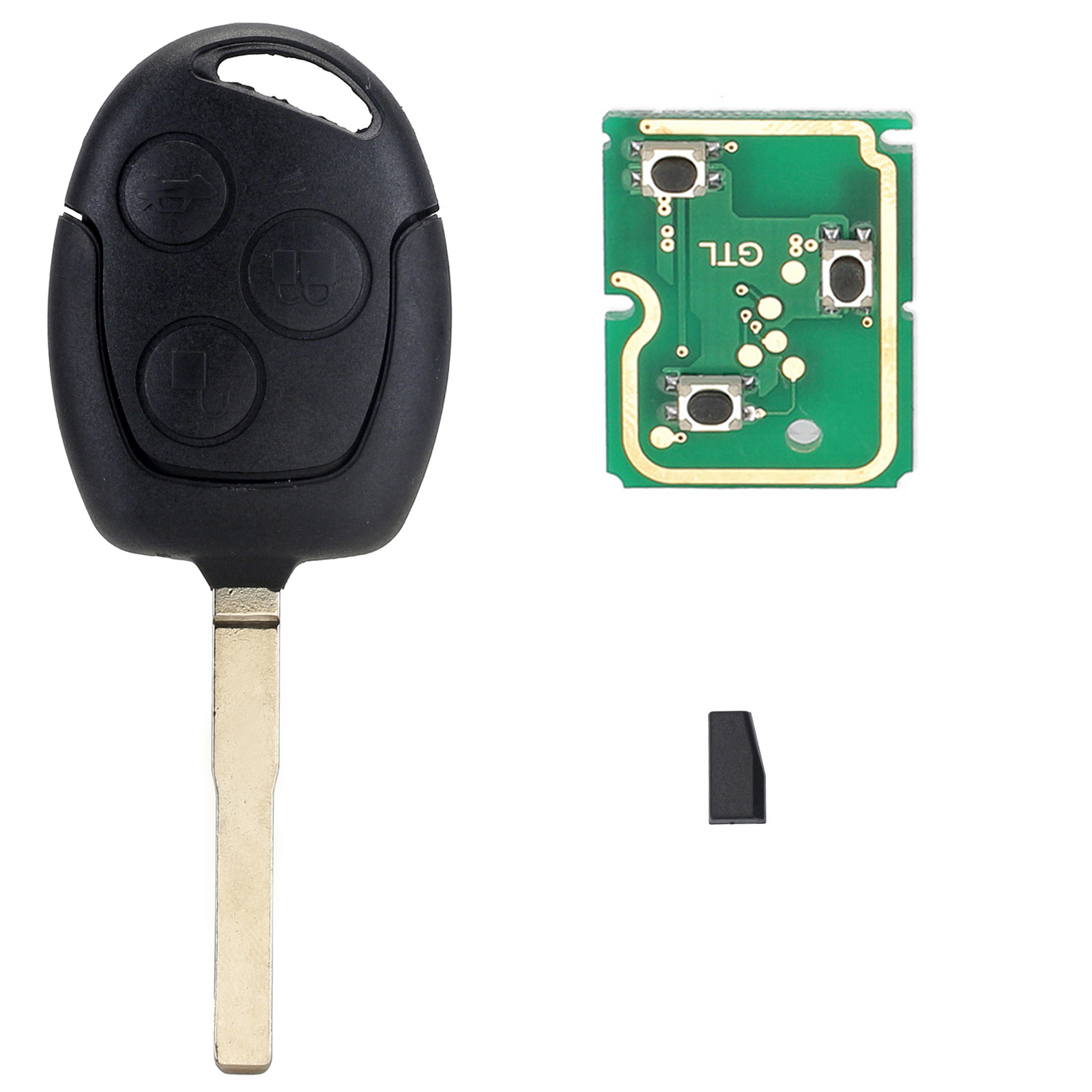 3 buttons remote car key 433mhz chip fob hu101 for ford fusion focus fiesta c