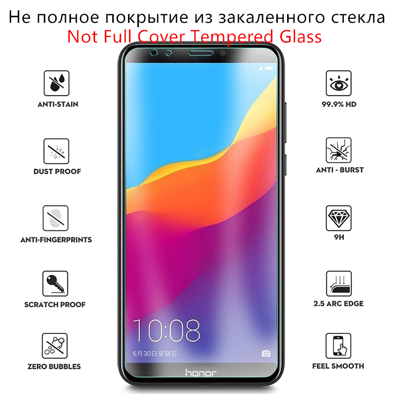 Image 2 - Protective Glass For Huawei Honor 7C Tempered Glass Honor 7C Russian Version AUM L41 Screen Protector For Huawei Honor 7C Glass-in Phone Screen Protectors from Cellphones & Telecommunications