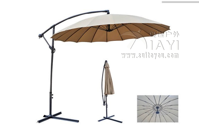 2.7meter 18K steel iron ribs hanging patio sun umbrella garden parasol sunshade outdoor furniture ( no base ) nike nike ni464aghca01