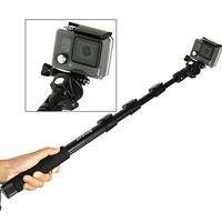 PULUZ Выдвижной регулируемый Автопортрет Ручной селфи палка монопод для GoPro HERO и смартфонов, длина: 40-120 см (черный