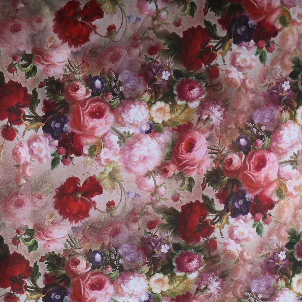Beautiful Rose Flowers Digital Print Satin Fabrics For Dresses In Fabric From Home Garden On Aliexpress Alibaba Group