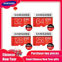 Produk Baru Asli Samsung EVO + Kartu Memori 64 GB EVO Plus U3 128 GB 256 GB Class10 Micro Sd kartu 32 GB 16G Micro Sd UHS-I TF Card(China)