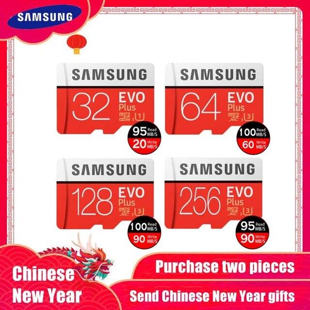 Novo produto original samsung evo + cartões de memória 64 gb evo mais u3 128 gb 256 gb class10 cartão micro sd 32 gb 16g microsd UHS-I tf cartão
