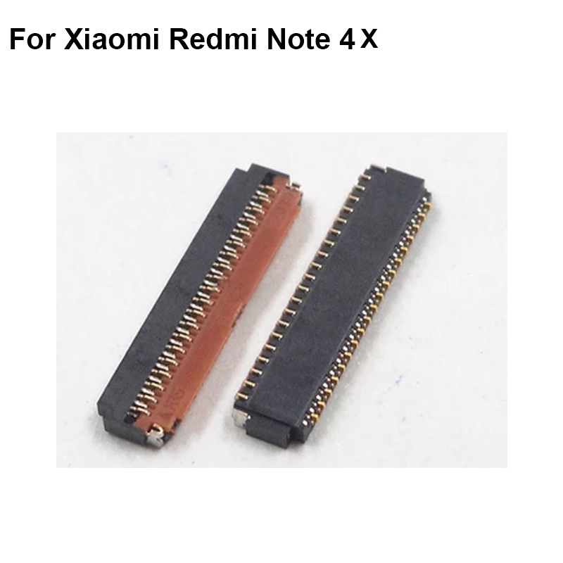 2pcs FPC connector For <font><b>Xiaomi</b></font> <font><b>Redmi</b></font> <font><b>Note</b></font> <font><b>4X</b></font> 4 X Note4x LCD display screen on <font><b>motherboard</b></font> mainboard image