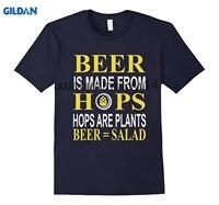 A Cerveja É Feita A Partir De Lúpulo Da Cerveja É Salada T-shirt GILDAN