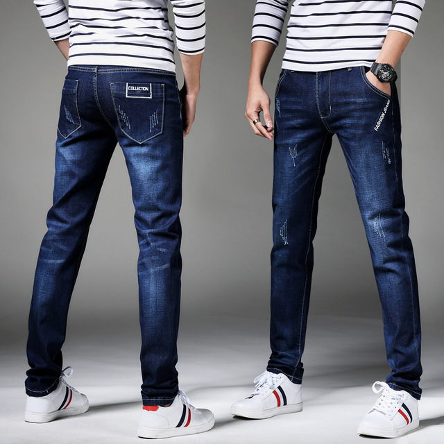 13 Style Design Denim Skinny Jeans Distressed Men New 2019 Spring Autumn Clothing Good Quality 5