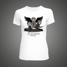 Supernatural Winchesters and Castiel with Wings T-Shirt