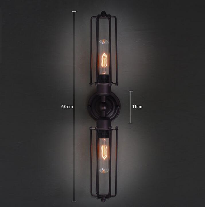 A1  American lights in the basement  Industrial iron lamp loft simplestairs aisle bed retro long iron double Bar GY92A1  American lights in the basement  Industrial iron lamp loft simplestairs aisle bed retro long iron double Bar GY92