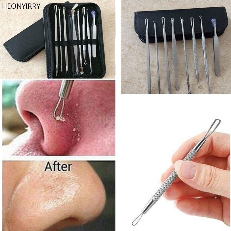 3 4 5 8 Pc Stainless Steel Blackhead Remover Tool Kit 1
