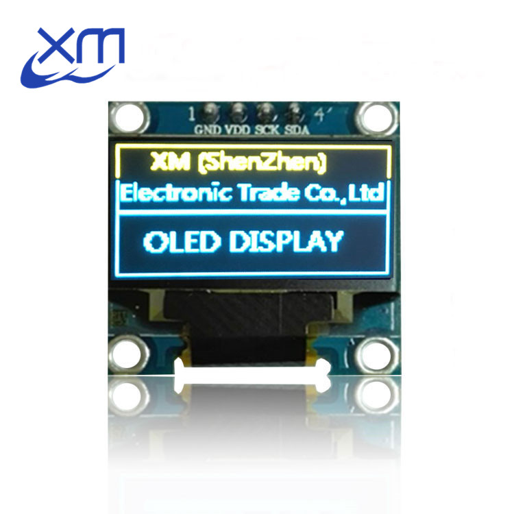 Free Shipping 2014 blue yellow New 128X64 OLED LCD LED Display Module For 0.96 I2C IIC Communicate 10pcs for Arduino