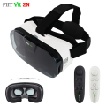 Fiit 2N Pro Game Video Models Virtual Reality Goggles VR Box 3D VR Glasses Headset Google Cardboard Helmet for 4-6' + Remote