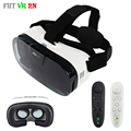 Modelos de Óculos de Realidade Virtual VR Fiit 2N Pro Jogo de Vídeo Caixa 3d google papelão vr óculos headset capacete para 4-6 '+ remoto