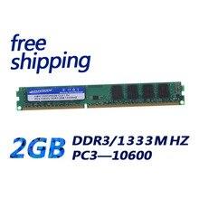 KEMBONA Best quality ram memory Desktop DDR3 ram 2GB memory module 1333MHz for Desktop PC10600 free shipping