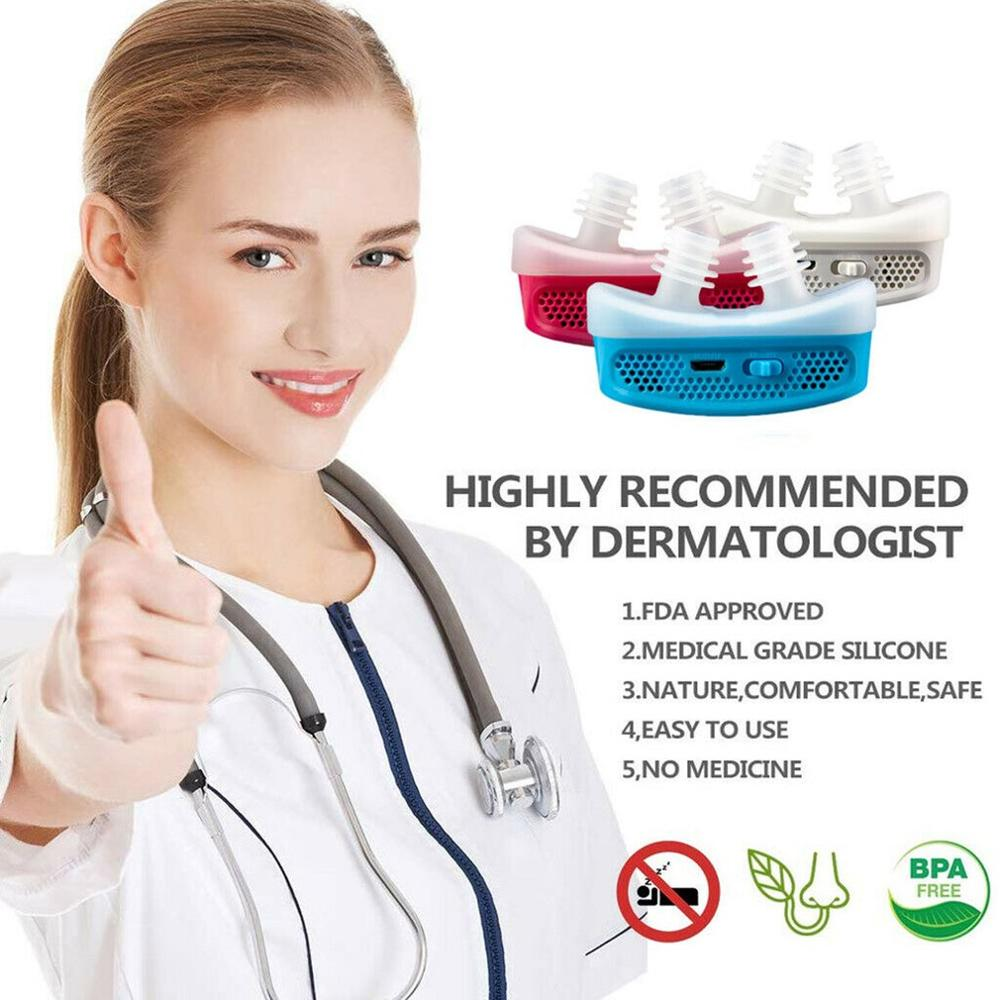 Micro CPAP Anti Snoring Electronic Device For Sleep Apnea Stop Snore Aid Stopper 2019 NEW SELLING