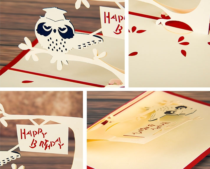 5pcslot3d pop up greeting carddiy drawing owl designcard for 5pcslot3d pop up greeting carddiy drawing owl designcard for wedding birthday festival valentine christmas gift card on aliexpress alibaba m4hsunfo