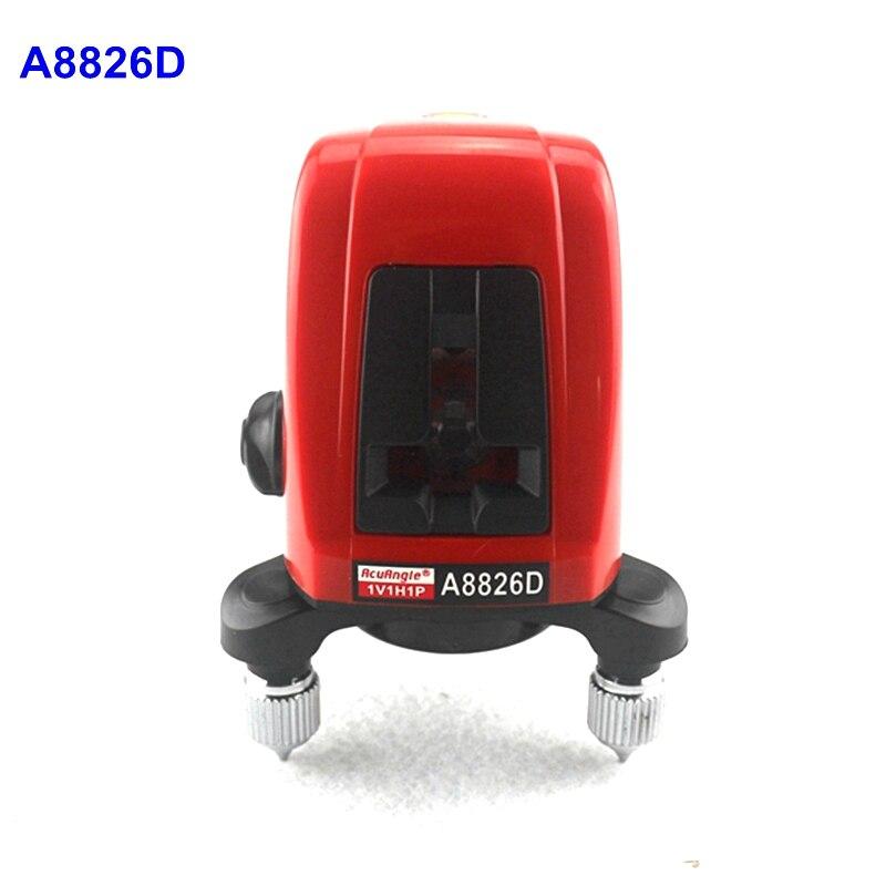 ACUANGLE A8826D Laser Niveau 360 Rotatif 635nm Rouge Lignes 1V1H1D 2 Lignes 1 Point Automatique AK435