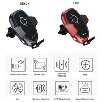 10W QI Wireless Car Charger Fast Charging Phone Holder Phone Holder With Fan Aromatherapy Box for Samsung Galaxy iPhone Huawei