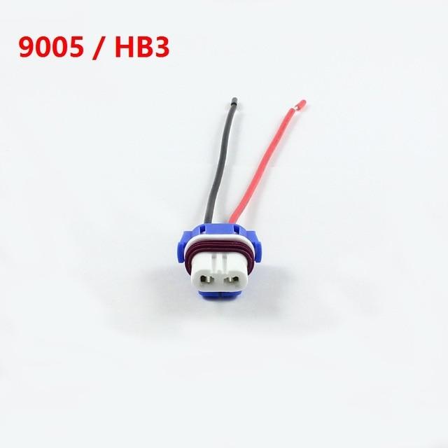KELIMI H1 H4 H7 H8 H11 9005 HB3 9006 HB4 LED bulb ceramic plug socket adapter connector extension cable