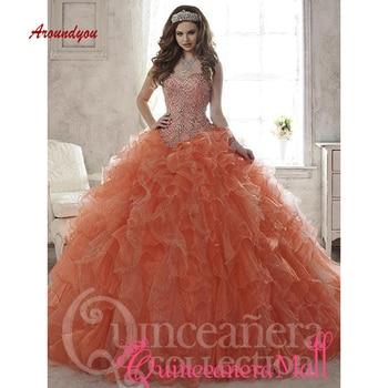 4e0acd4077a Puffy de quinceañera vestidos de novia vestido de fiesta largo de baile de  Debutante dulce 16 vestido vestidos de 15 años