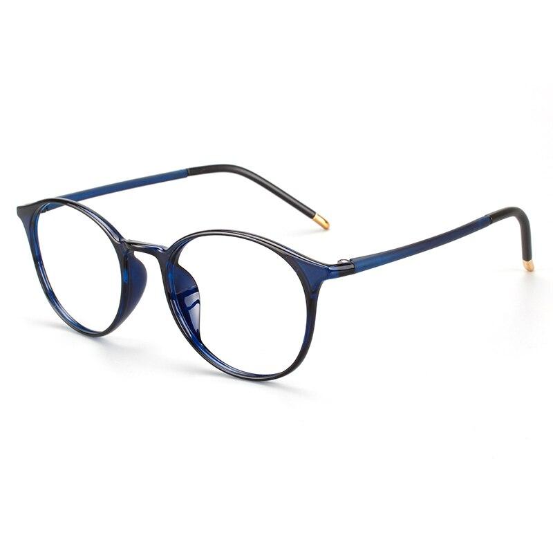 a244e90452 Ronda retro pequeño Marco de acetato anteojos ópticos, lente claro, Marco  medio de gafas