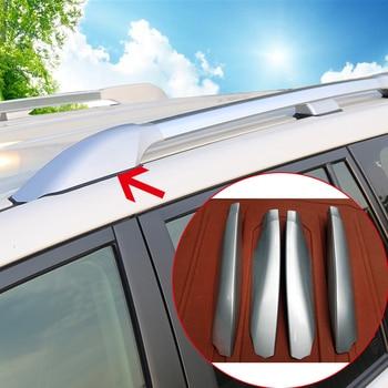 Black/Silver ABS Roof Rack Side Rails Luggage Carriers Bar Cover Trim 4 PCS For Toyota Land Cruiser Prado J120 03-09/ J150 10-18