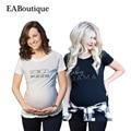 EABoutique Nuevo verano Divertido estilo carta moda impreso ropa de maternidad T-shirt las mujeres embarazadas de gran tamaño 3XL