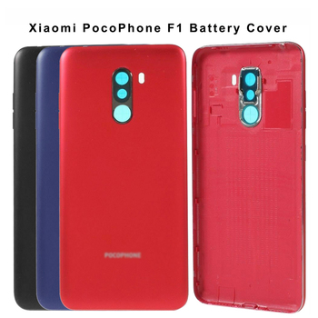 Battery Cover per Xiaomi PocoPhone F1 Battery Cover Back Housing Rear Door Case+Camera Frame for Xiaomi Pocophone F1 Battery Cover Replacement 1