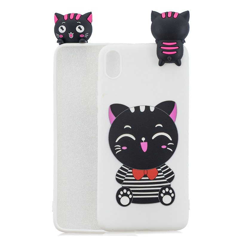 3D Doll Toy Case For Xiaomi Redmi 7A 7 8 8A Back Cover On Redmi K20 Phone Coque Redmi7 Soft Silicone Cartoon Shell Skin