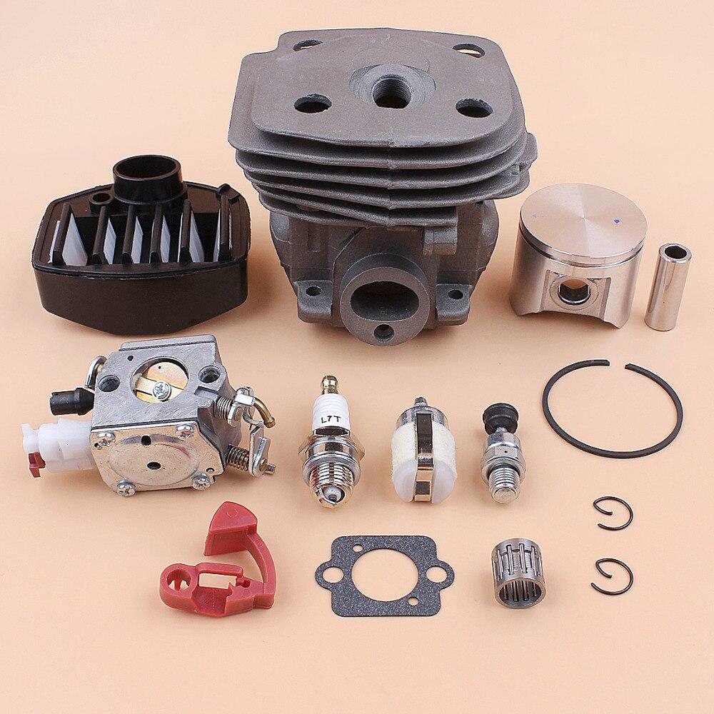 Tools : 47MM Cylinder Piston Carburetor Air Filter Bearing Kit For HUSQVARNA 359 357 357XP Chainsaw Parts Zama C3-EL18B Carb 537157302