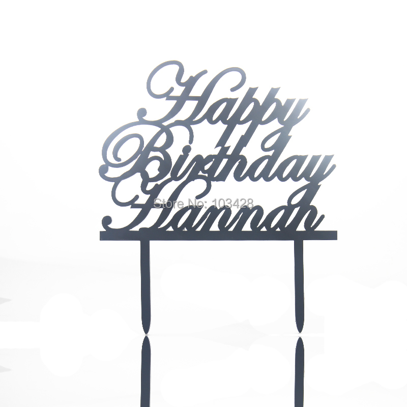 Completely new Personalized Happy Birthday Name Cake Topper Acrylic Initial Cake  IP56